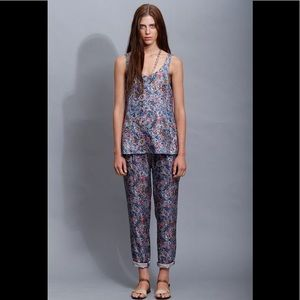 NWOT Marc Jacobs Abstract Floral Silk Top - Blue